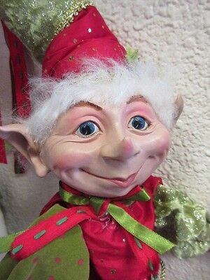 New Lg Lanky Christmas elf doll ,posable well done high quality Holiday Decor