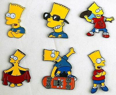 Bart Simpson 6 x Simpsons Pins Collection