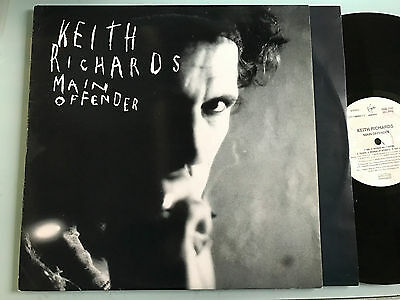 LP ITALY VERY RARE NM Rolling Stones Keith Richards Main Offender 1ST ISSUE 1992