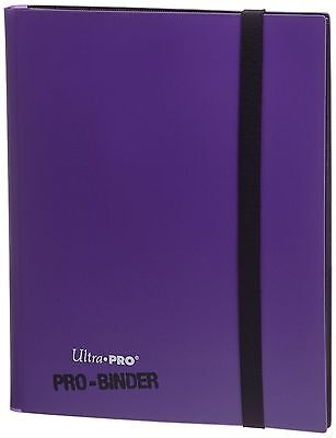Ultra Pro Purple 9 Pocket Page Portfolio Album Binder For Pokemon Yugioh Cards