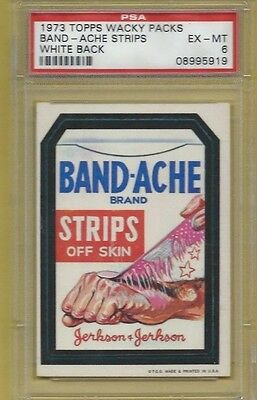 Wacky Packages Series 1 Band-Ache Psa 6 Exmt Sharp