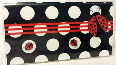 Checkbook Cover Red and Black Ladybug Suzie's Designs Vinyl Cover