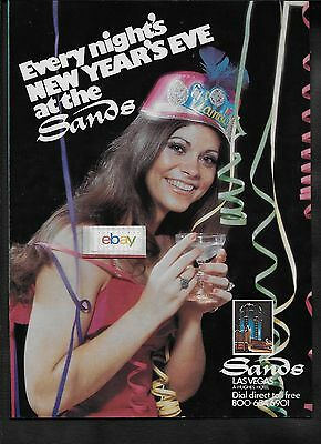 Sands Hotel & Casino Las Vegas Every Night's New Years Eve At The Sands 1975 Ad