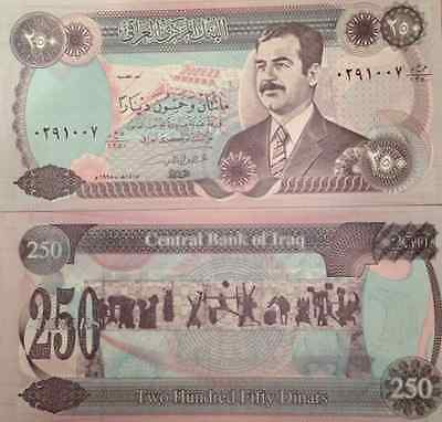 Iraqi Iraq Saddam 1995 250 Dinar Unc Note P-85 Monument Buy From A Usa Seller !!