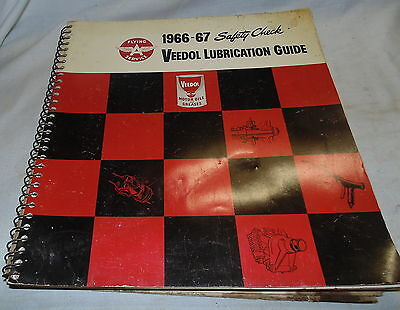 Veedol Lubrication Guide, 1966-67, Safety Check, Flying A Service, Vintage, HOT