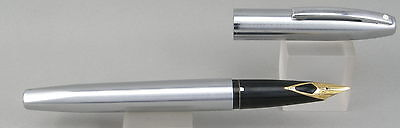 Sheaffer Imperial 2444 Stainless Steel & Chrome Fountain Pen - Fine Nib - 1980's
