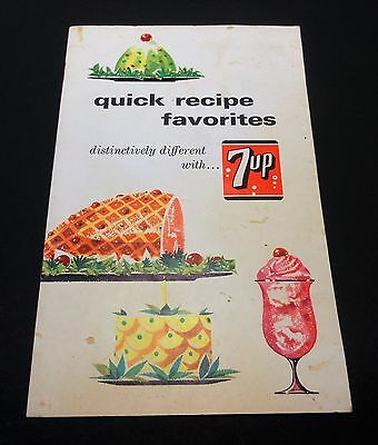 "Vintage 7up 1965 ""Quick Recipe Favorites"" Booklet"