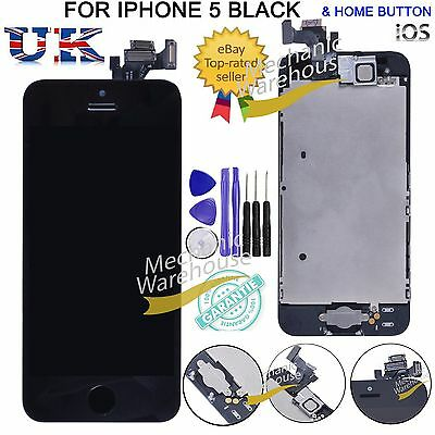 Assembly For iPhone 5 5G LCD Display Touch Screen Digitizer & Home Button Camera