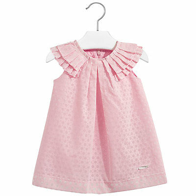Aqua, Pink, Yellow Mayoral Baby Girls 3M-24M Floral Lace Social Party Dress