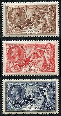 KGV 1934 SG450/452 Re-engraved Seahorses Set 3 values Very Fine M/Mint