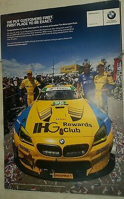 2016 Turner Motorsports racing in the winner's circle BMW poster