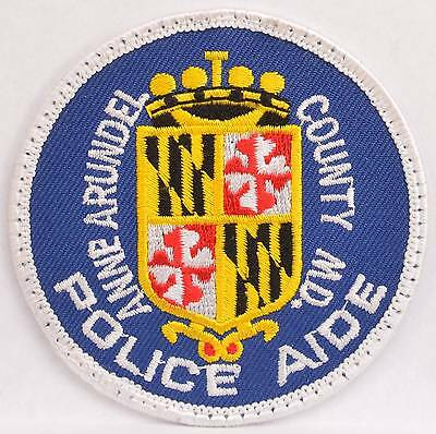 Embroidered Shoulder Patch Anne Arundel County MD Police Aide