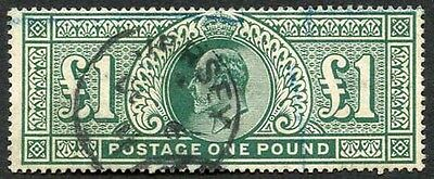SG320 KEVII One pound Somerset house with 6th December 1911 Jersey CDS