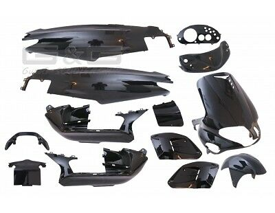 Fairing Kit 15 Fairing parts in black for Gilera Runner