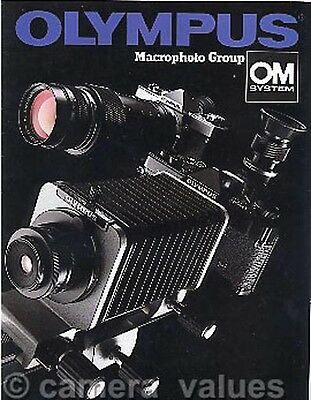 Olympus OM Macro System Brochure, Covers Lenses Bellows Tubes etc. Others Listed