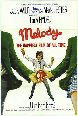 MELODY orig RARE 1971 one sheet movie poster JACK WILD/MARK LESTER/THE BEE GEES