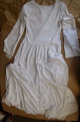 NWT Praisewear Liturgical White Long Bell Sleeve Dress T411 Praise Small