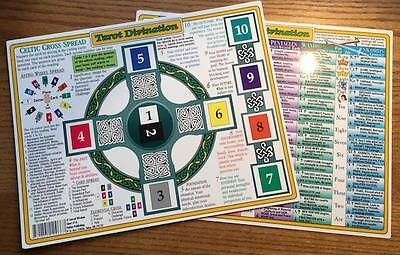 Tarot Divination Laminated Chart: Layouts & Explanations!