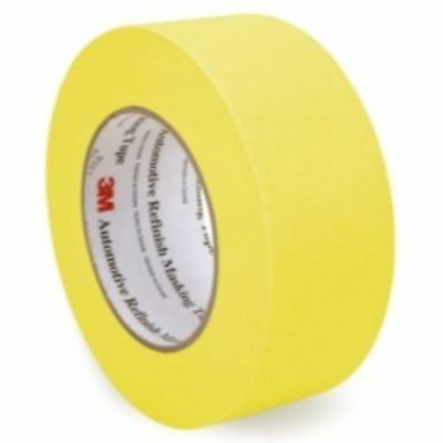 3M 06656 Crepe Paper Automotive Refinish Tape 2 Inch, 24 Pack, Yellow