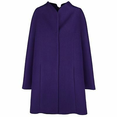 Elie Tahari Daliah Purple Wool Plus-size Coat
