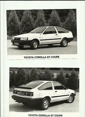 TOYOTA COROLLA GT COUPE PRESS PHOTO  'Brochure Related'  2 OF