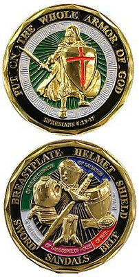 Put On The Whole Armor Of God Ephesians 6:13-17 Challenge Coin