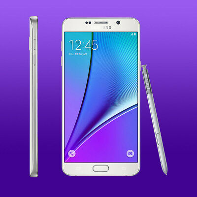 New Samsung Galaxy Note 5 SM-N920A - 32GB - White AT&T Unlocked Smartphone