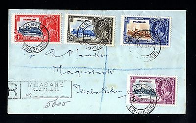 14429-SWAZILAND-REGIST.COVER MBABANE to THABAINCHU(south africa)1935.WWII.Britis