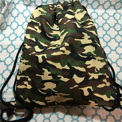 Polyester Canvas Backpack Shoes Sorted Gym Student Bag Camouflage 1213-9 B