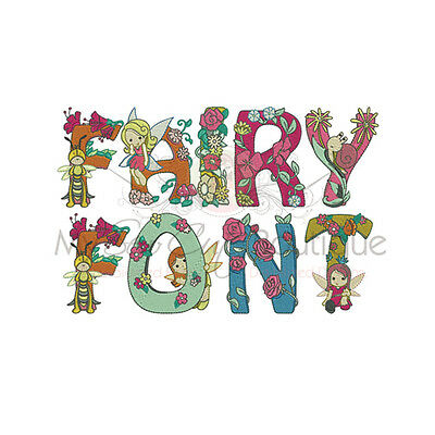 Fairies & Flowers Alphabet - 26 Machine Embroidery Designs - 3 Sizes - IMPCD184