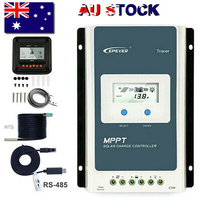EPEVER 20A 30A 40A MPPT Solar Charge Controller 12/24V Auto Negative Ground+MT50