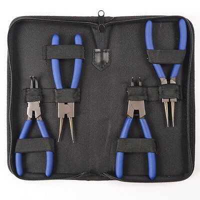 16CM Internal/External Bent/Straight Circlip Plier Snap Ring Pliers Set of 4