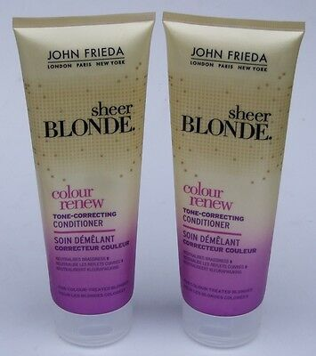 2 x 250ml John Frieda Sheer Blonde Colour Renew Tone Correcting Hair Conditioner