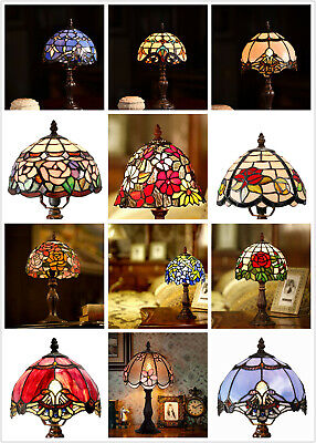 "14.5"" High Joanne Tiffany Leadlight Stained Glass Mini desk table Lamp(4 Styles)"