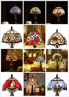 """NEW ARRIVALS@14"""" High Tiffany Leadlight Stained Glass Mini table Lamp(12 Styles)"""