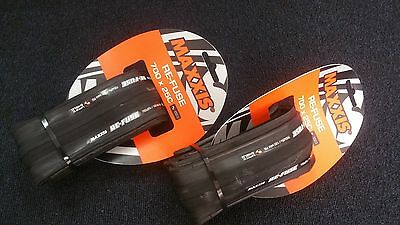 2 x Maxxis Re-Fuse Refuse Foldable Tyres 700 X 25c PAIR - Black