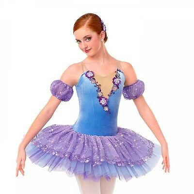 LOVE STORY Ballet Pleated Tutu Dance Costume Ruffle Panty Adult Large & AXL