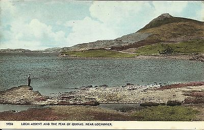 Postcard : Loch Assynt and peak of Quinag near Lochinver