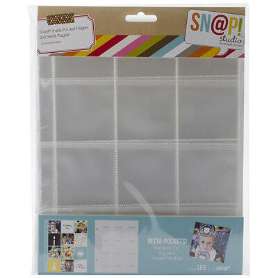 Simple Stories - Sn@p! Insta Pocket Pages For 6inX8in Binders 10 Pack (12) 2inX