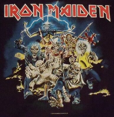 Iron Maiden T Shirt Best of the Beast Black Concert Heavy Thrash Metal  Mens L
