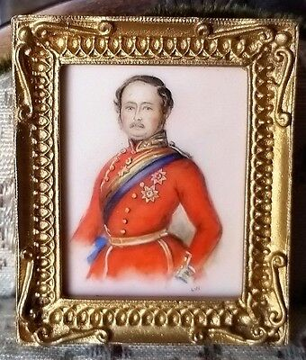 Miniature Portrait Oil Painting On Ivory Christopher Whitford Prince Albert