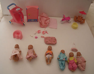 Baby Born Mini World Dolls, Outfits, Bottles, Accessories - Zapf Bundle/lots