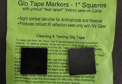 """Lot Of 2 Iff-980 Ir Reflective Glo Tape Markers 1"""" Square"""