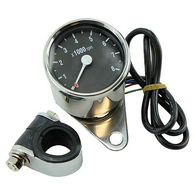 Mini Tachometer Fits Sportster and Big Twin Dual Fire Electronic Bobber Chopper