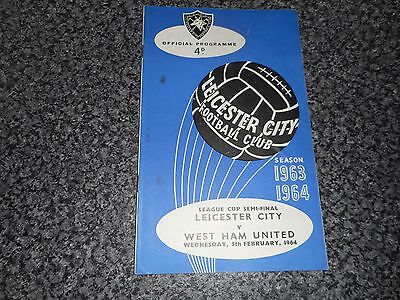 1963/4 FOOTBALL LEAGUE CUP SEMI - FINAL :  LEICESTER CITY  v  WEST HAM UNITED
