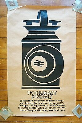 1971 British Railways Enthusiasts Specials Steam Days Original Railway Poster