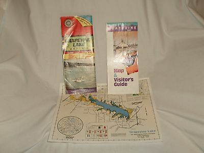1993 AID Grapevine Lake Depth Map Waterproof Texas Fishing / Visitor's Guide / 3