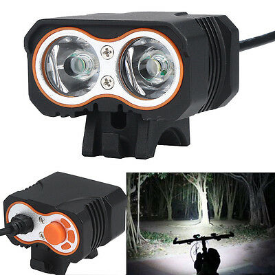 Headlight 15000Lm 2x XML T6 LED Bicycle Bike Light Lamp USB Rechargeable Torch