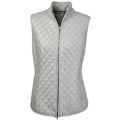 2016 Greg Norman Womens Foil Print Quilted Golf Vest NEW