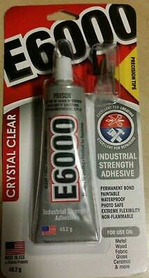 E6000 Industrial Glue Adhesive 29.5ml / 1 oz -  Cameo Cabochon Bails glass metal